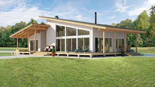 Mod les de maisons aalto 100 for Maison de campagne en bois