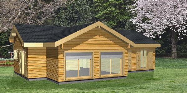 Mod les de maisons eglantine for Maison de campagne en bois